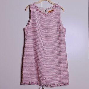 Alice + Olivia Pink Tweed Sheath Dress M